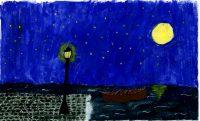 Δανάη Βάρλα - 3ο Δημ. Σχολείο Γυθείου - Μια νύχτα στο λιμάνι - 2ο Βραβείο Παιδιά 9-12 ετών