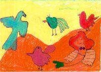 Μελίνα Ντιακόνου - 3ο Δημ. Σχολείο Ζακύνθου - Η γοργόνα πέθανε και πήγε στον ήλιο. Εκεί έβγαλε φτερά μαζί με τα πουλιά