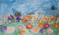 Σοφία Δούλου - 5ο Δημ. Σχολείο Βαρβασίου - Χίος - Ανάμεσα στα λουλούδια