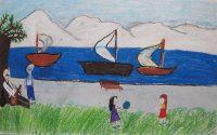 Μαρία Μανταλένα Γεωργίεβα - 5ο Δημοτικό Σχολείο Χαλκίδας - Ο λυράρης Νίκος Ξυλούρης με τη λύρα του