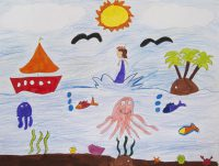 Μαρία - Νεφέλη Καραγρηγορίου - Γεννάδειος Σχολή - Η γέννηση της Αφροδίτης από τον ολοκάθαρο αφρό