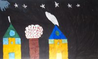 Αντώνιος Τσατταλιός - 1ο Δημ. Σχολείο Σύμης - Η γειτονιά μου το βράδυ