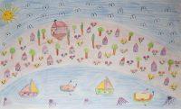 Ταξιαρχούλα - Ελένη Κλαδίτη - Δημ. Σχολείο Παμφίλων Λέσβου - Το χωριό μου από ψηλά