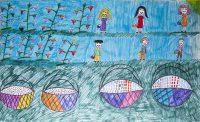 Ολυμπία Μετόχου - 10ο Δημ. Σχολείο Κορίνθου - Η διαδικασία του μαζέματος των σταφυλιών σε σταφίδες