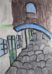 Αικατερίνη Γουδέλλη - 3ο Δημ. Σχολείο Μύρινας Λήμνου - Η Μύρινα είναι γεμάτη από τέτοια μικρά δρομάκια, στρωμένα με πλάκες