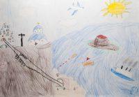 Αφροδίτη Καραμήτρου - Δημ. Σχολείο Μεσσαριάς Βόθωνα Σαντορίνης - Η καλντέρα της Σαντορίνης