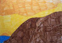 Αλέξανδρος Κόντι - Δημ. Σχολείο Καρτεράδου Σαντορίνης - Ηλιοβασίλεμα στη Σαντορίνη
