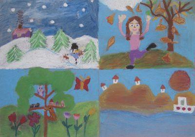 Χαρά Λαζάρου - Δημ. Σχολείο Αγλαντζιάς Κύπρου - Οι τέσσερεις εποχές