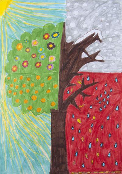 Λίζα Τζινάι - Δημ. Σχολείο Πύργου Θήρας - Τα χρώματα των εποχών