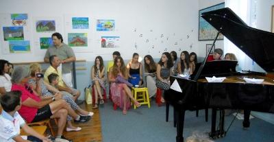 Η παρουσίαση των μαθητών του πιάνου