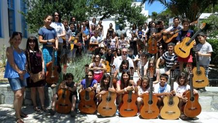 Οι μαθητές κιθάρας του σεμιναρίου