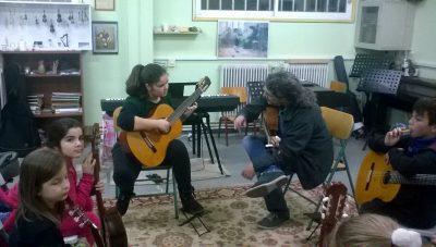 Επίσκεψη Δημήτρη Κουρζάκη στο Μουσικό Εργαστήρι Λήμνου