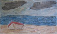 """Κράσι Ανέστι, Δημ. Σχολείο Μούδρου Λήμνου, """"Αχ θάλασσά μου σκοτεινή"""", 2o βραβείο (9-12 ετών)"""