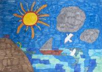 """Φαίη Παπαϊωάννου, Εκπαιδευτήρια """"Δελασάλ"""" Ερμούπολη Σύρου, """"Ο γλάρος και η βάρκα"""", 3o βραβείο (9-12 ετών)"""
