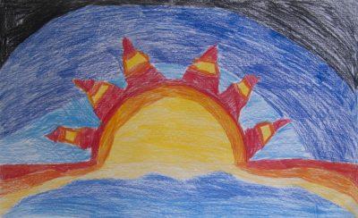 """Δέσποινα Νεαμονίτη, 3ο Δημ. Σχολείο Βροντάδων Χίου, """"Ο ήλιος ο ηλιάτορας της Χίου ο αυτοκράτορας"""", 1o βραβείο (9-12 ετών)"""