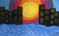 """Ιγνατία Παπαδοπούλου, Δημ. Σχολείο Καλλονής Λέσβου, """"Το ηλιοβασίλεμα"""", 1o βραβείο (6-9 ετών)"""