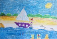 """Ιωάννα Βρούλη, 11ο Δημ. Σχολείο Ρόδου, """" Η βαρκούλα του ψαρά"""", 3o βραβείο (6-9 ετών)"""